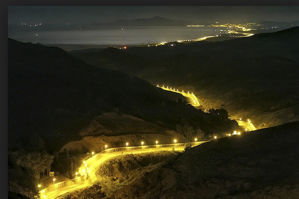 Ceuta at night