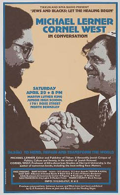 Cornel West and Michael Lerner poster