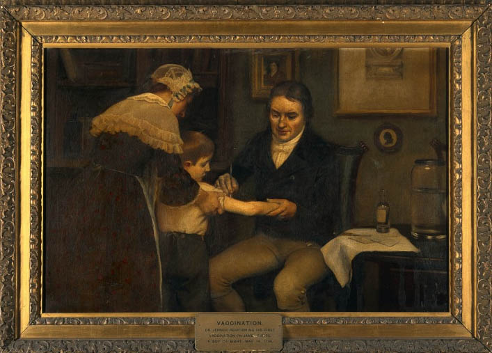 Dr. Edward Jenner vaccinating James Phipps