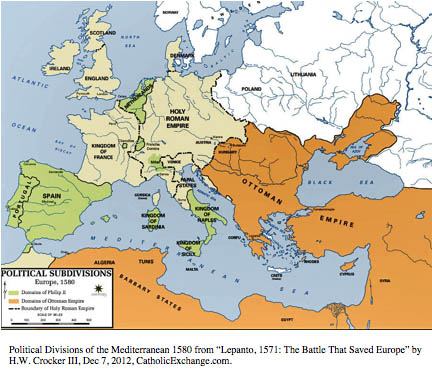European Map at the height of the Ottoman Empire