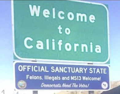 Fake California sign
