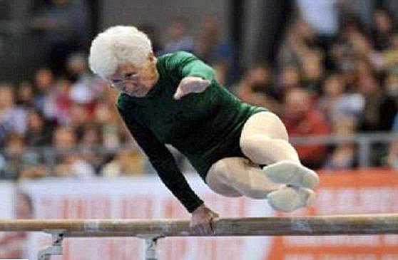Octogenarian Olympian Johanna Quass (86) of Saxony, Germany (April 2012).