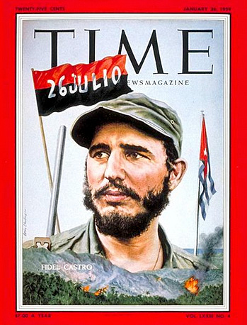 Time magazine cover featuring Fidel Castro