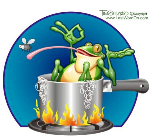 Frog In Hot Pot