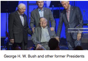 George H.W. Bush and former Presidents