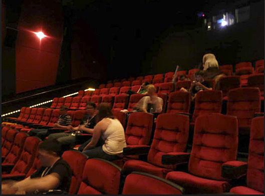 Half empty movie theater