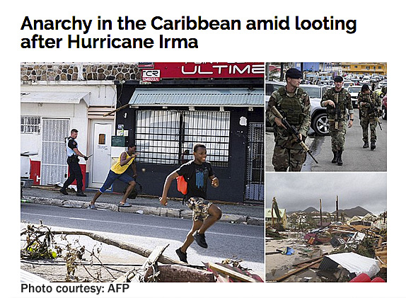 Looting after Irma