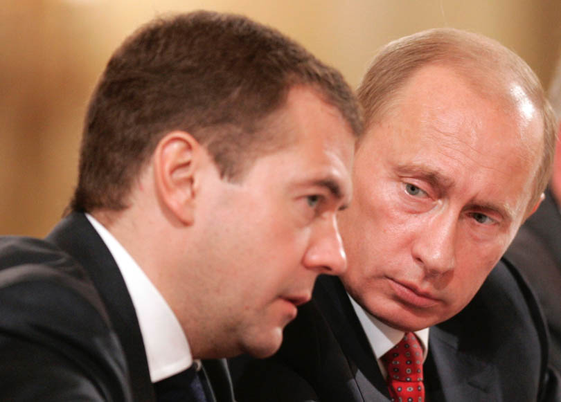 Medvedev and Putin