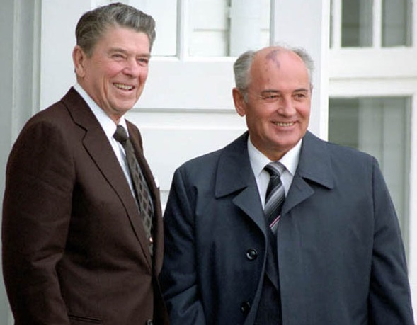 Reagan with Gorbachov