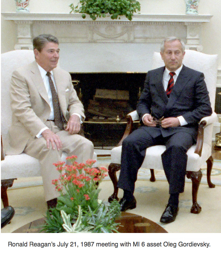 US President Ronald Reagan and MI 6 asset Oleg Gordievsky