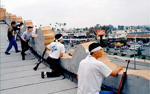 Korean shop owners, during L.A. riots, 1992