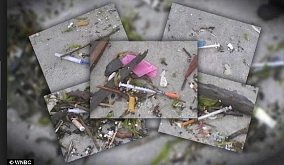 dirty syringes wash up on beach in California
